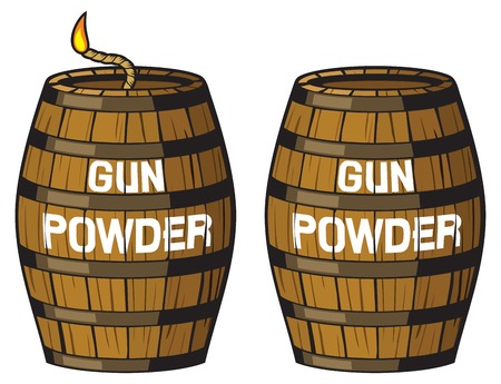 gun powder barrel illustration