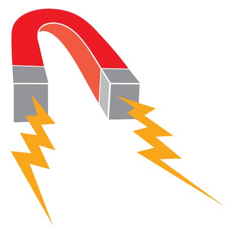 horseshoe red iron magnet