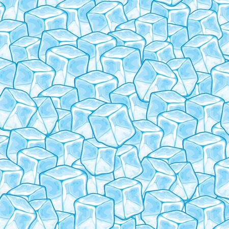 ice brick: ice cubes background Illustration