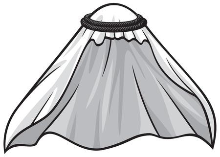 traditional arabic or muslim hat  イラスト・ベクター素材