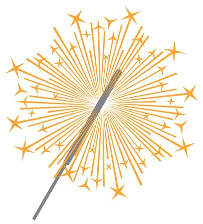 dynamite: sparkler vector icon