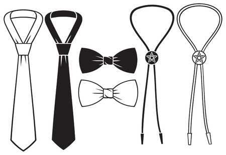 lapel: business, bow and cowboy bolo ties set