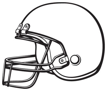 American football helmet Vector Illustration