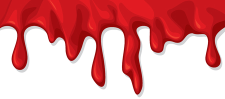 to trickle: A blood dripping (flowing) vector illustration.