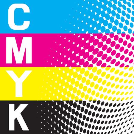 A cmyk vector raster background.