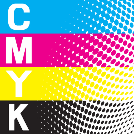 A cmyk vector raster background.