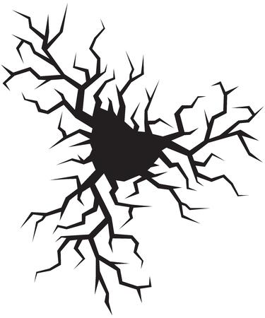 Crack in ground vector illustration. Ilustração