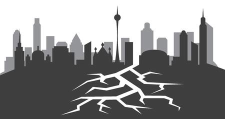crack in ground vector illustration Ilustração