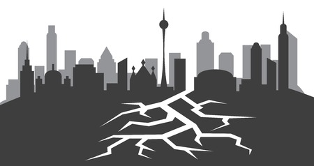 surface: crack in ground vector illustration Illustration