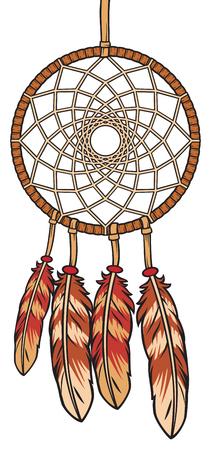legends: A native american Indian talisman dream catcher vector illustration