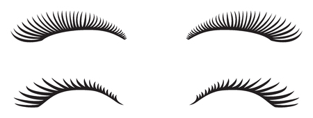An eyelashes vector design. Иллюстрация