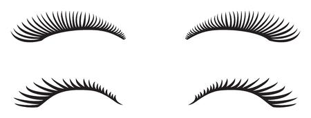 An eyelashes vector design. Vectores