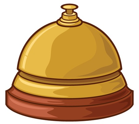 Service (hotel) bell vector illustration