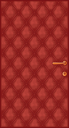 padding: Leather decorative upholstery door Illustration