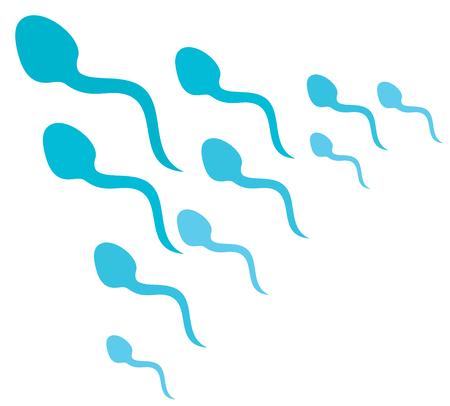 Humanos espermas ataque ilustración vectorial