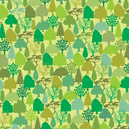 pattern: seamless pattern with trees vector illustration Illustration