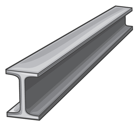 metal (rolled) rail piece for construction works