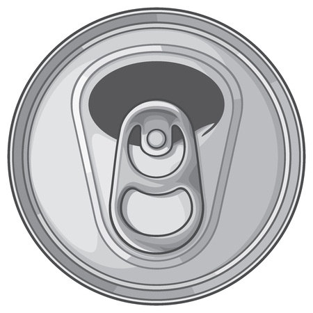 Opened can top. Illustration