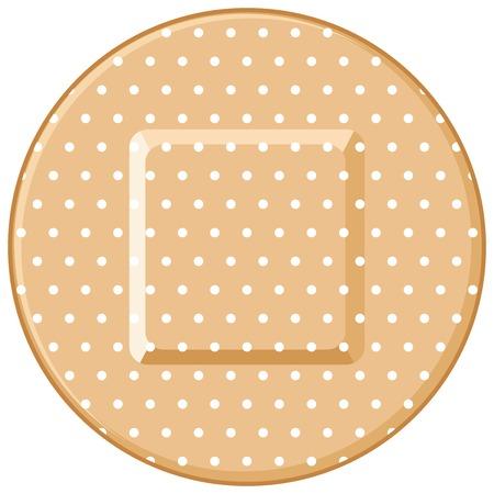 round adhesive bandage vector illustration Illustration