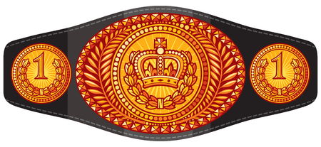 champion (boxing) belt vector illustration Illustration