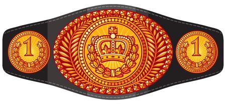 kampioen (boksen) riem vectorillustratie Stock Illustratie
