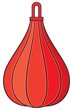 dint: boxing pear vector illustration (punch bag)