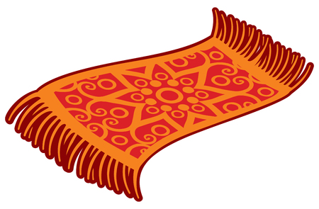 Oriental magic carpet vector illustration