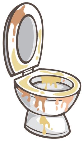 vuile wc-pot vectorillustratie Stock Illustratie