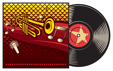 vinyl record with cover