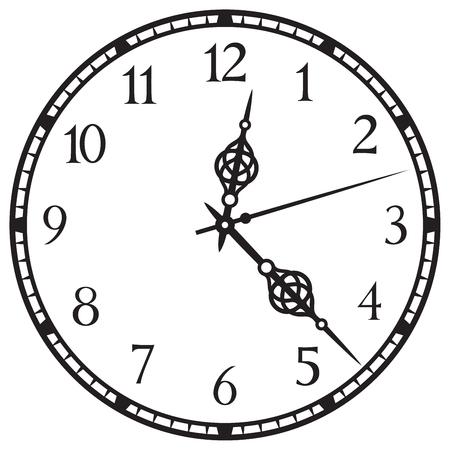 Old clock illustration.