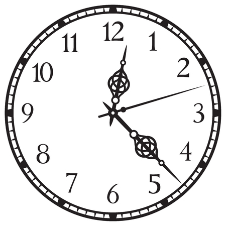 Old clock illustration.