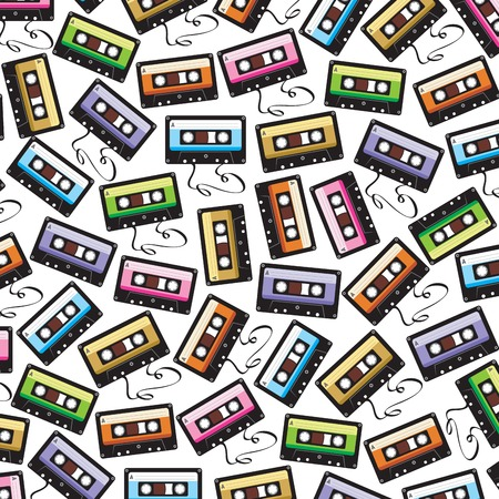 magnetite: background pattern with audio cassette tape