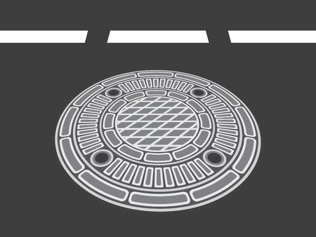 manhole cover vector illustration
