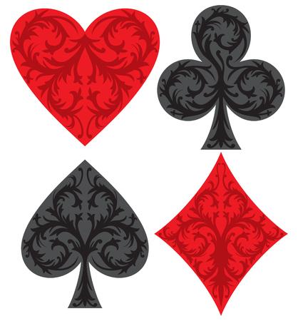 playing card symbols vector illustration Illustration