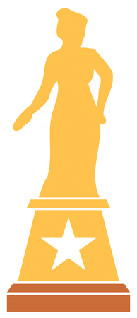 movie or cinema  award vector illustration (lady statue trophy)