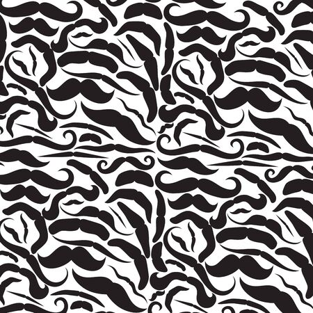 burly: background pattern with mustache icons