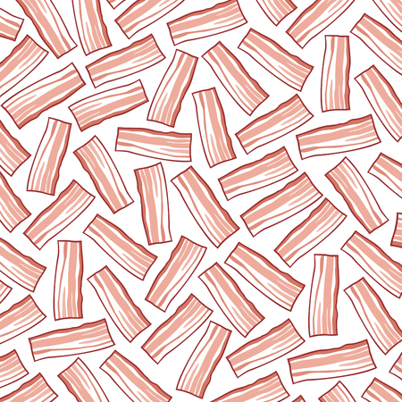 background pattern with bacon Illustration