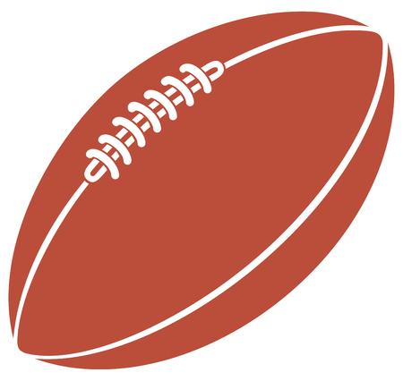 American football ball vector icon