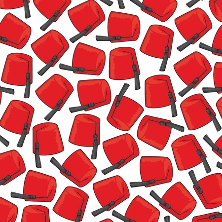 fes: background pattern with red fez