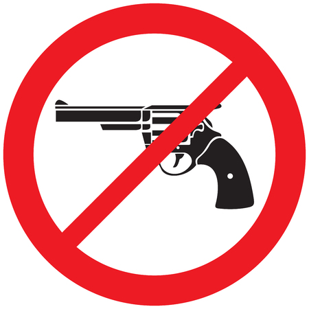 revolver or gun not allowed sign