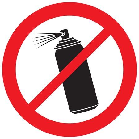 no aerosol spray sign (prohibition icon)