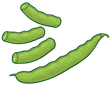 grüne Erbsen Vektor-Illustration Vektorgrafik