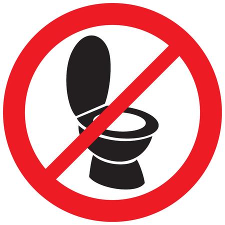 toiletpot niet toegestaan teken Vector Illustratie