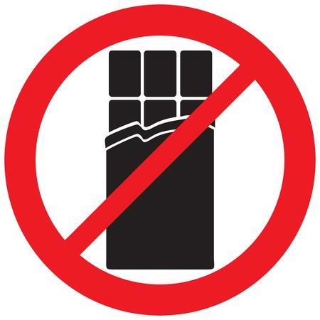 Chocolate prohibited symbol Иллюстрация