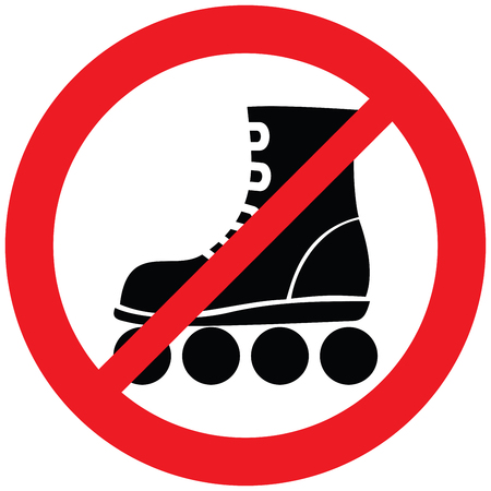 roller skate not allowed sign (prohibition icon)