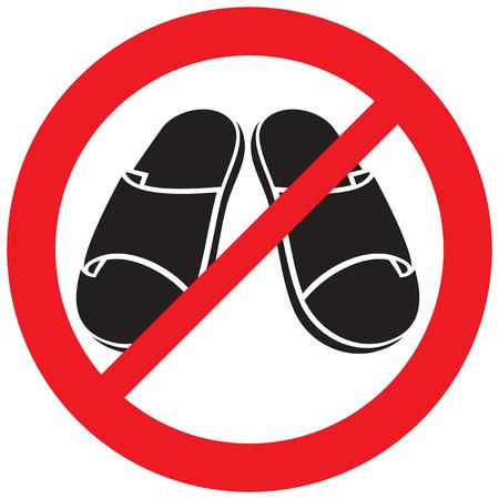 flip flops not allowed sign