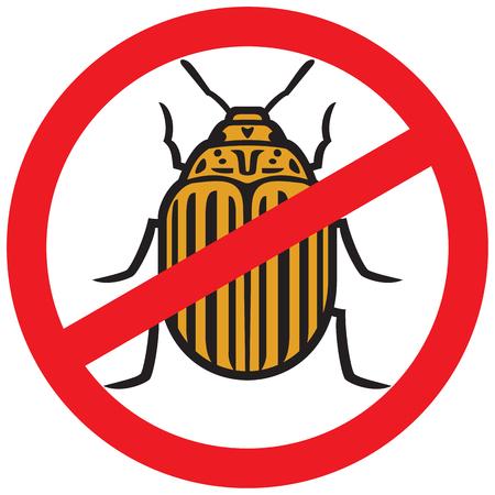 No potato insect sign icon
