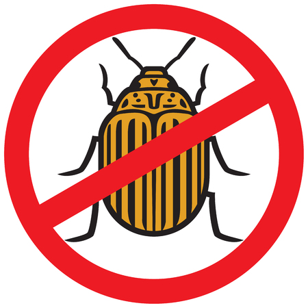 No potato insect sign icon