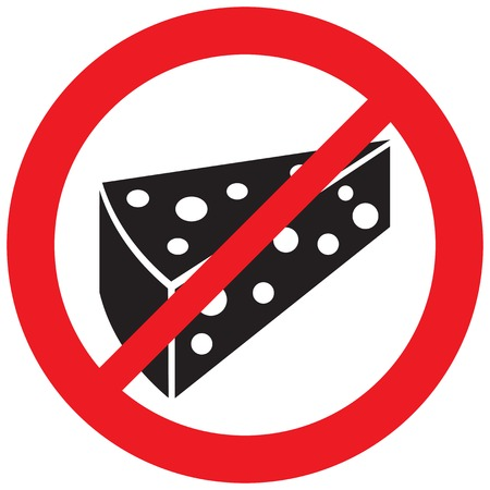 no cheese sign (prohibition symbol, not allowed icon)