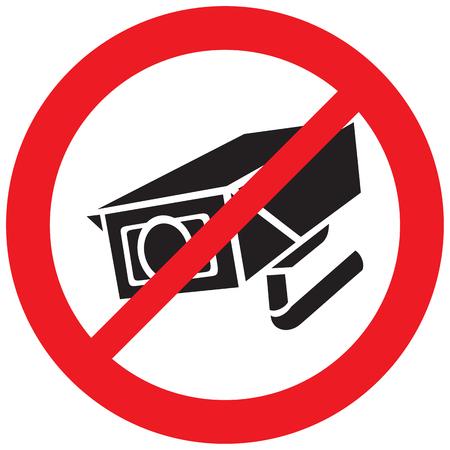 Security camera forbidden sign